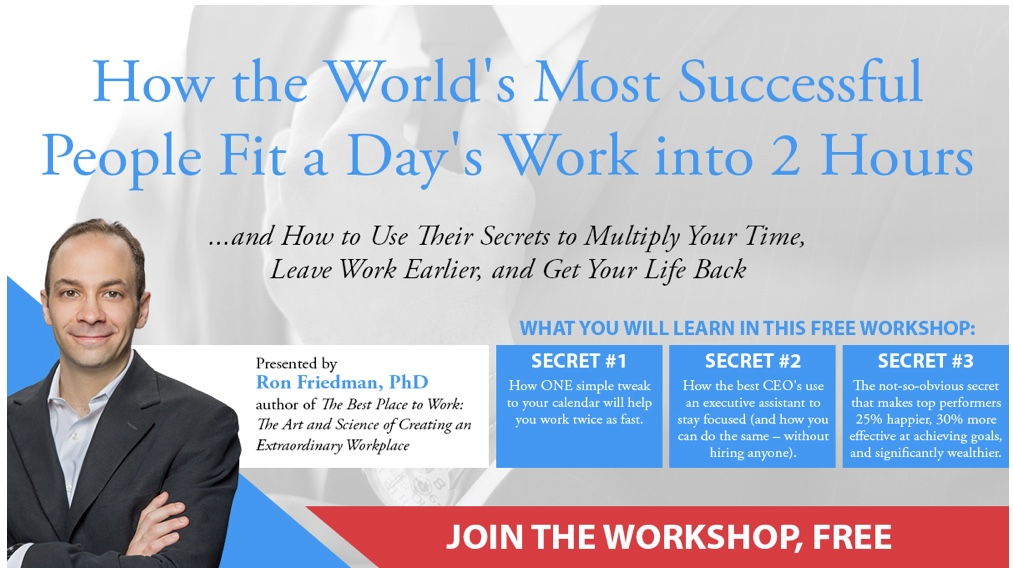 How the World's Most Successful People Fit a Day's Work into 2 Hours